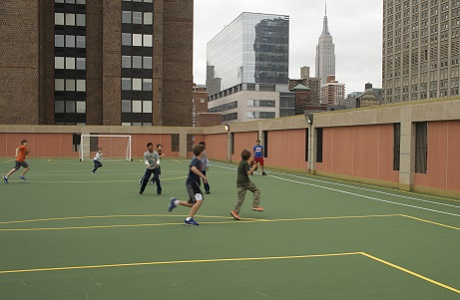 Sports Surface on School Rooftop