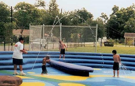 Rubber Splash Pad at Community Water Park